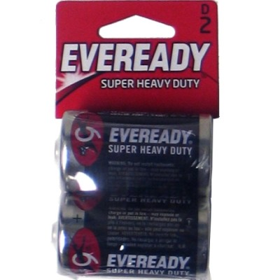1250B2 HV Duty 48-D-2pk Carbon Zinc Eveready