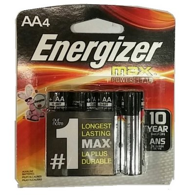 ENERGIZR 12-AA-4 (USA) E91B4 Alkaline card of 4