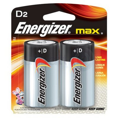 ENERGIZER 12-D-2 (USA) E95B2 Alkaline card of 2