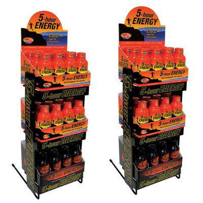 5 HOURS ENER Display 3 tier 6dz mxd 4/reg 2/XS
