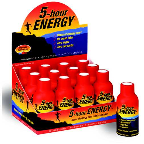 5 HOURS ENERGY 12-2oz Liquid Original BERRY