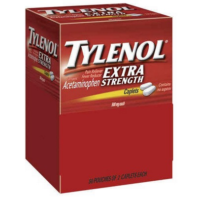 TYLENOL 2s X-Strngth Display of 50 caplets