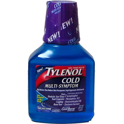 TYLENOL NightTime Multi/Symptoms Cold 12-8oz