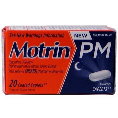 MOTRIN PM Caplets 12-20ct