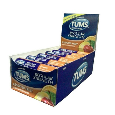 TUMS singles box/12 Assorted flavors