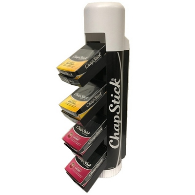 CHAPSTICK DISPLAY 48ct 24 reg + 24 Cherry