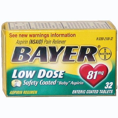 BAYER 12-32-81mg Low Dose Aspirin
