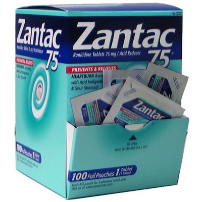 ZANTAC 75 tablets 1s Dispenser of 100