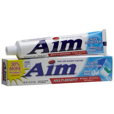 AIM Toothpaste 12-6oz Ultra Mint gel